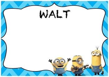 WALT WILF and TIB Minion posters