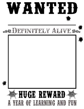 Wanted posters western cowboy theme by creative learning for Wanted pirate poster template