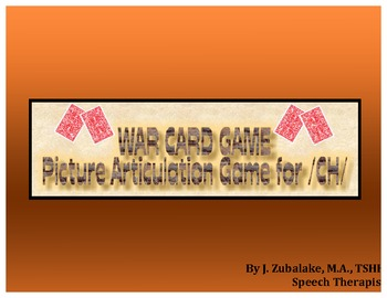 WAR CARD GAME Picture Articulation Card Game for /CH/- Spe