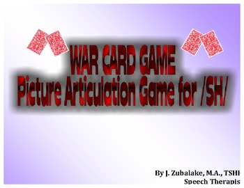 WAR CARD GAME Picture Articulation Card Game for /SH/- Spe
