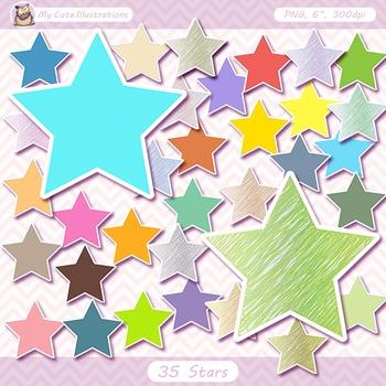 35 star burst clipart commercial use, digital clip art, di