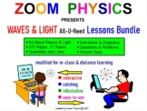 WAVES, LIGHT, OPTICS BUNDLE: My Regents Physics Lessons &