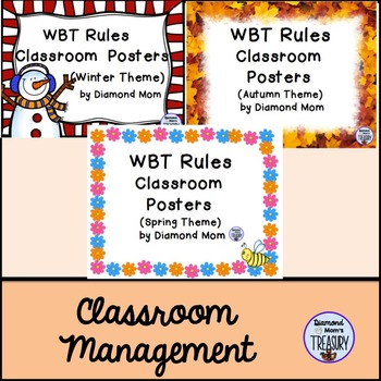 WBT Classroom Rules Posters - Seasons theme