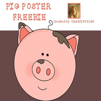 PIGS WE DON'T DO MESSY WORK FREEBIE POSTER