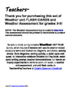 WEATHER Assessment (Quiz, Test) & Flash Cards