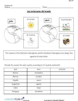 WEATHER WEB QUEST (SPANISH 2016 EDITION)