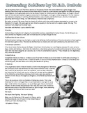 "W.E.B. DuBois ""Returning Soldiers"" from World War I Readin"