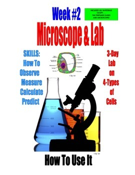 SALE  $8.50  MICROSCOPE LAB - HOW TO USE IT -  A 3-DAY LAB