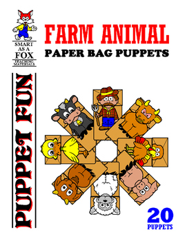WEEKLY FREEBIE #109: Cow and Pig Paper Bag Puppets
