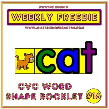 WEEKLY FREEBIE #16: CVC Word Shape Flip Booklet