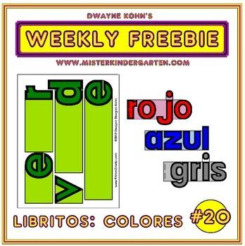 WEEKLY FREEBIE #20: Libritos Los Colores