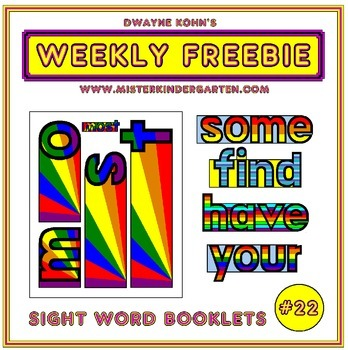 WEEKLY FREEBIE #22: Sight Word Shape Flip Books