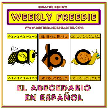 WEEKLY FREEBIE #85: Classroom Alphabet Line in Spanish