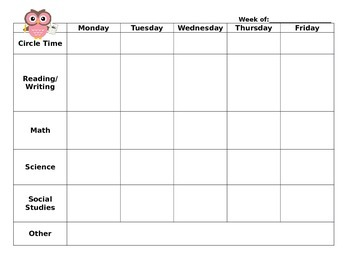 EDITABLE WEEKLY PLANNER - Quick, at-a-glance lesson plan t