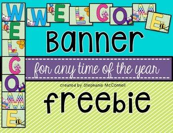 WELCOME Banner- Freebie
