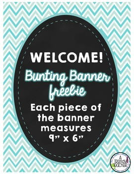 WELCOME Bunting Banner [Black and Blue]