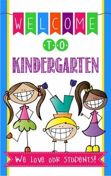 WELCOME to Kindergarten - medium BANNER / Kindergarten