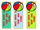 WELCOME to SCHOOL {**Free Beach -Themed Bookmarks**}