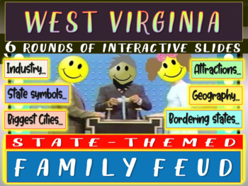 WEST VIRGINIA FAMILY FEUD Engaging game about cities, geog