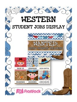 WESTERN COWBOY Themed Student Jobs Display