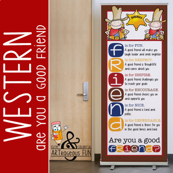 WESTERN - Classroom Decor: LARGE BANNER, FRIENDS