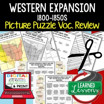 WESTERN EXPANSION & CONFLICT Picture Puzzle Unit Review, S