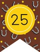 WESTERN - Number Line Banner, 1 to 25, EDITABLE to continue