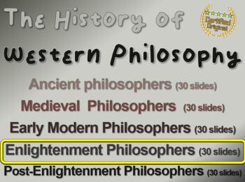 WESTERN PHILOSOPHY (PART 4 ENLIGHTENMENT PHILOSOPHY) Overv