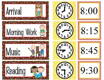 WESTERN - Schedule Cards / editable MS WORD / Illustrated
