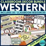 WESTERN Classroom Theme EDITABLE Decor 34 Printable Produc