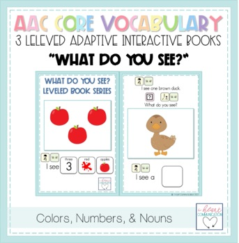 """WHAT"" LEVELED Adapted Mini Books for Children with Autism"