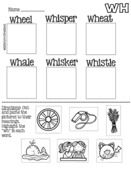 WH Digraph: Picture Sort