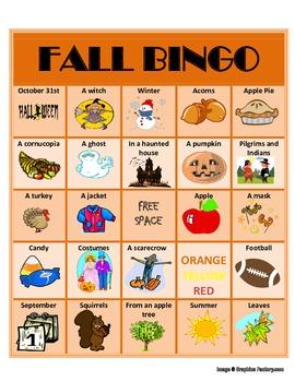 """""""WH"""" Fall Bingo"""