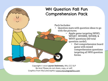 WH Question Fall Pack