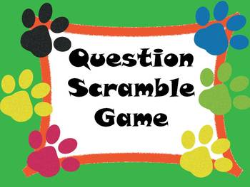 WH Question Scramble Card Game