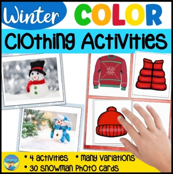 Winter Clothing Snowman Color Match Question Game- Special