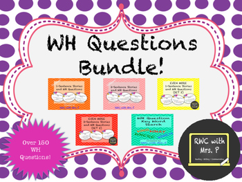 WH Questions Bundle - 1 and 2 Sentence Stories for Auditor