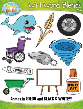 WH Word Blends Clipart Set — Includes 20 Graphics!