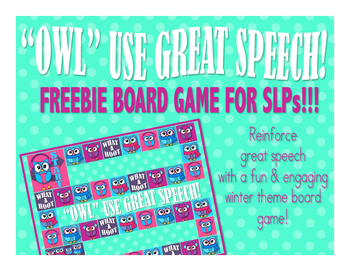 WHAT A HOOT - Reinforcement Game for SLPs (FREEBIE!!!)