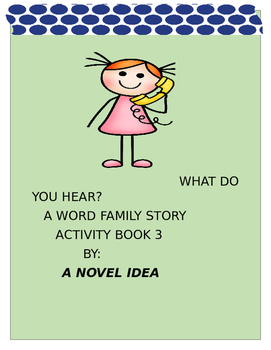 WHAT DO YOU HEAR THE AR WORD FAMILY ACTIVITY BOOK