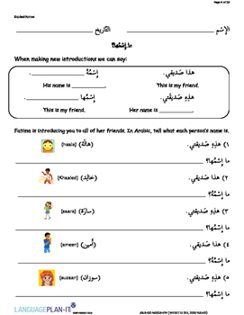 WHAT IS HIS, HER NAME (ARABIC 2015 EDITION)