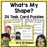 Geometric Shapes Task Cards -  Follow the Clues 2D and 3D