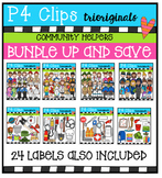 Community Helpers BUNDLE P4 Clips Trioriginals
