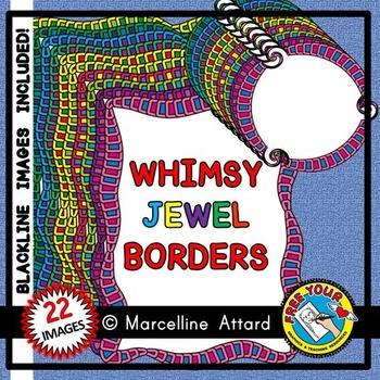 CLIPART BORDERS: WHIMSY JEWEL CLIPART BORDERS: WHIMSY CLIP