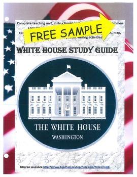 WHITE HOUSE Washington DC President Study Guide FREE