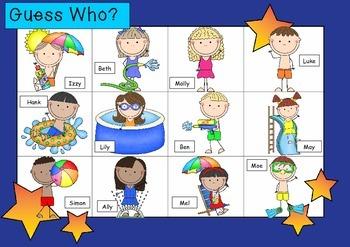 WHO AM I? # 11 SUMMER FUN KIDS Oral language speaking game