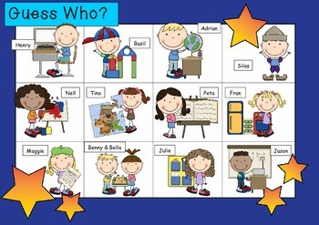 WHO AM I ? # 02 SCHOOL KIDS Oral language speaking game WH