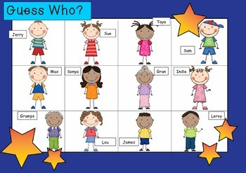 WHO AM I? #03 FAMILY Oral language speaking game WHOLE CLASS