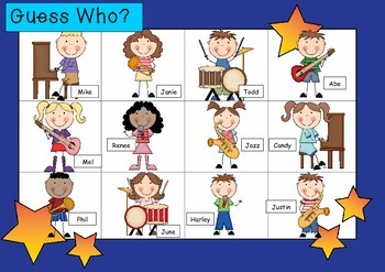 WHO AM I? # 05 MUSICAL KIDS Oral language speaking game WH