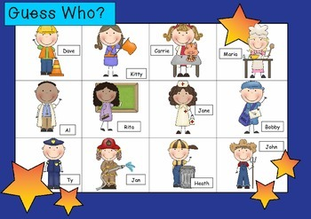 WHO AM I? # 07 COMMUNITY WORKERS KIDS Oral language speaki